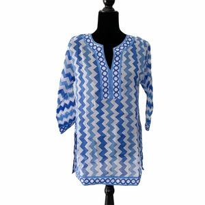 Gretchen Scott 100% Cotton Chevron Tunic